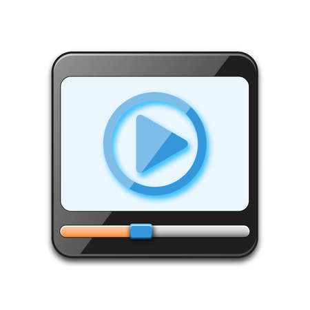 media player: Media player icon, vector