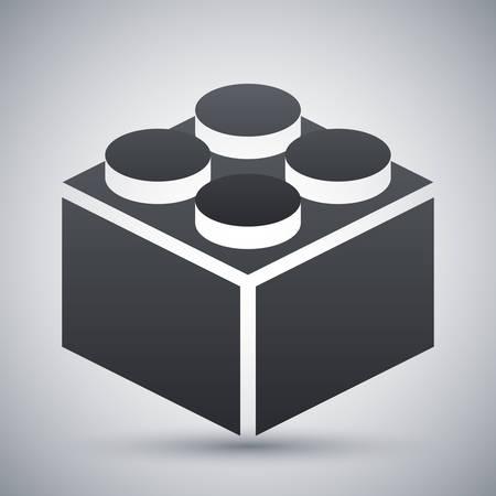 ladrillo: Vector icono de bloque de construcción Vectores