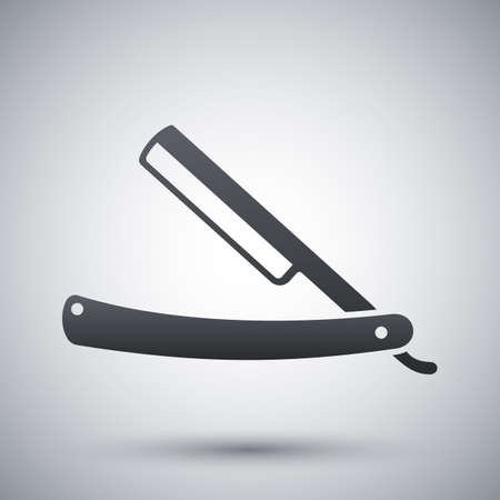 straight razor: Vector straight razor icon