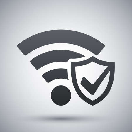 security icon: Vector Wi-Fi Security Icon Illustration