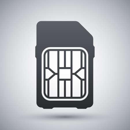 SIM card icon, vector