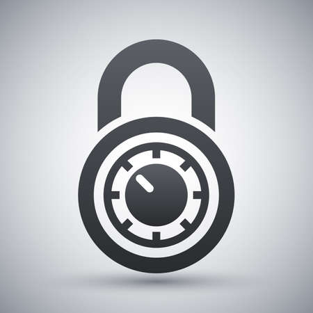 combination: Vector combination lock icon