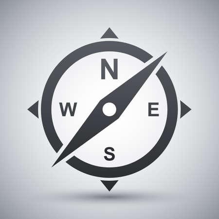 needles: Vector compass icon