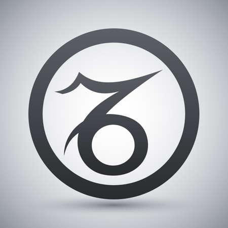 Vector Zodiac Sign Capricorn Royalty Free Cliparts Vectors And