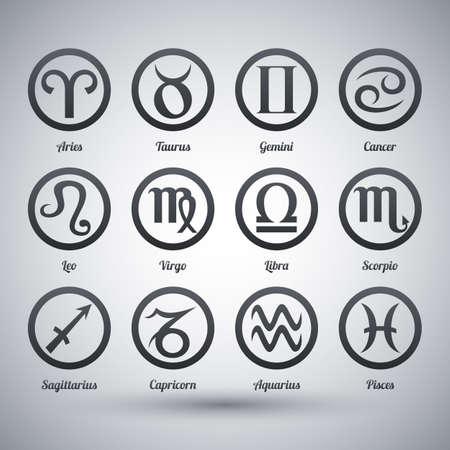 virgo the virgin: Vector set of zodiac signs Illustration