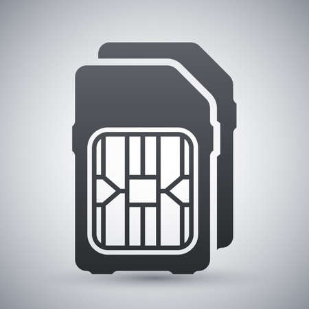 dual: Dual SIM cards icon, vector Illustration