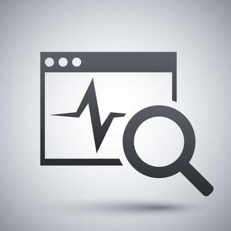 diagnostics: Vector diagnostics software icon