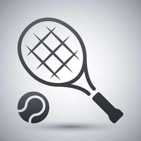 wimbledon: Vector tennis racket and tennis ball icon