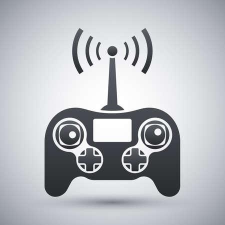 remote control: Drone remote control icon, stock vector