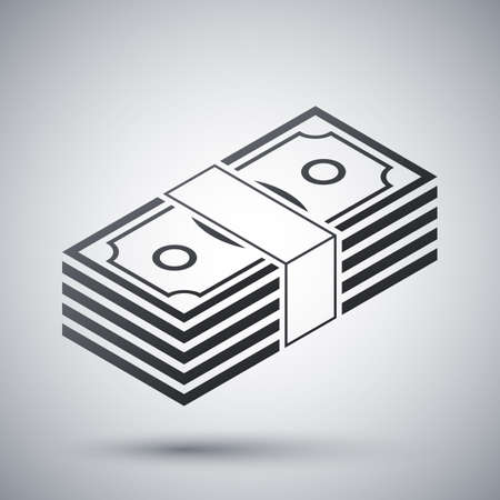bundle: Bundle of dollars, vector icon