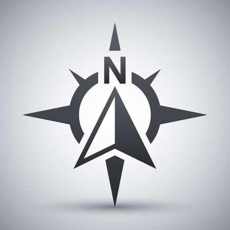 Compass-Konzept-Symbol, Vektor