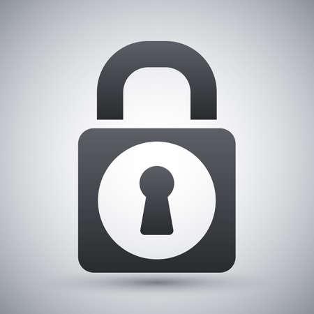 Vector padlock icon