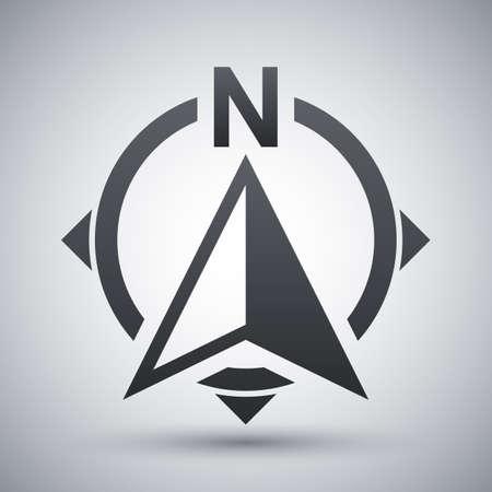 brujula: icono de dirección de la brújula del Norte Vectores