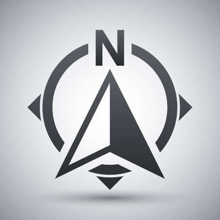 Północna kierunek kompas ikona Ilustracje wektorowe