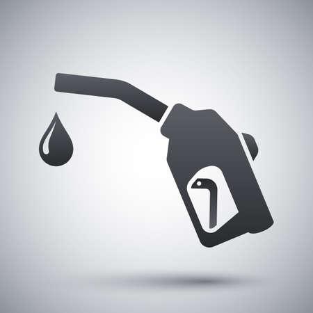 fuel pump: Gun for fuel pump with a drop of fuel, icon