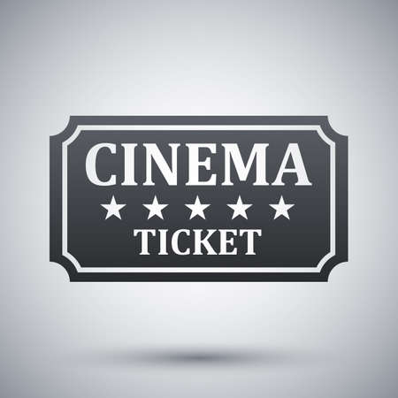 cinema ticket: cinema ticket icon Illustration