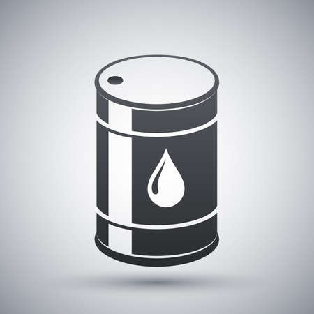 metal barrel: oil barrel icon Illustration