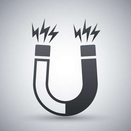 magnetismo: icono del imán, vector