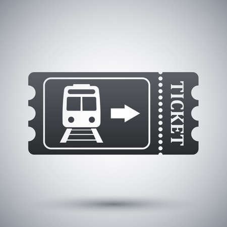 Billet de train icône, vecteur stocks