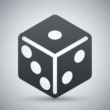 tossing: Vector dice icon Illustration