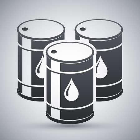 naphtha: Vector oil barrels icon