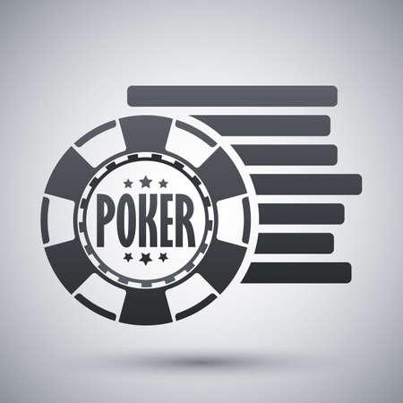 Vector poker chips icon Vektorové ilustrace