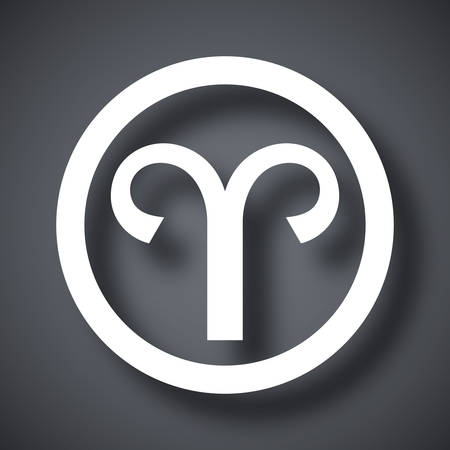 aries: Vector Zodiac sign Aries