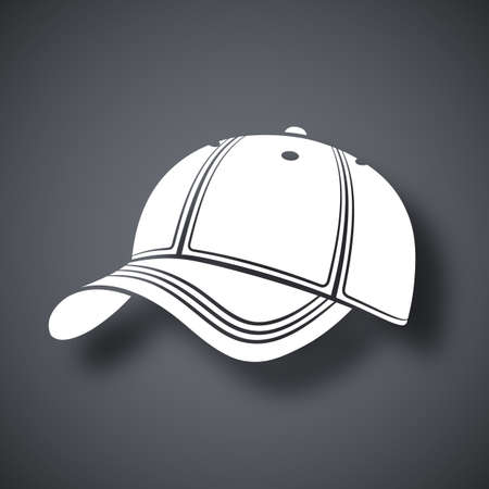 hat with visor: Vector baseball cap icon
