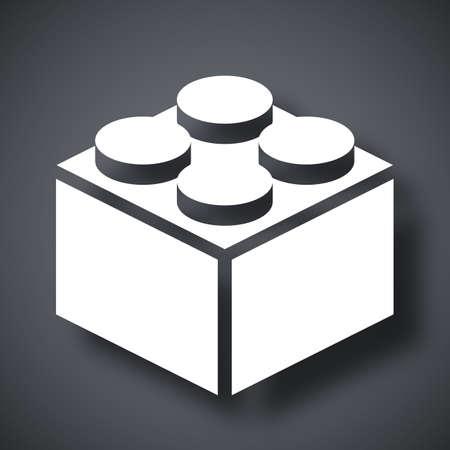 Vector icono de bloque de construcción Ilustración de vector