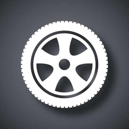 car wheels: Vector car wheel icon