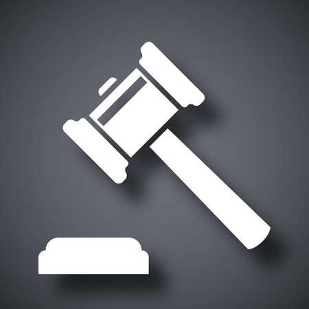 judge gavel: Vector judge gavel icon
