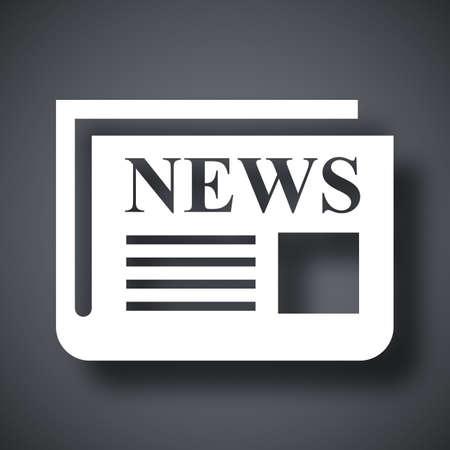 newsprint: Vector newspaper icon Illustration