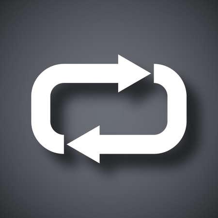 Vector repeat icon Illustration