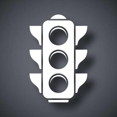 traffic light: Vector traffic light icon Illustration