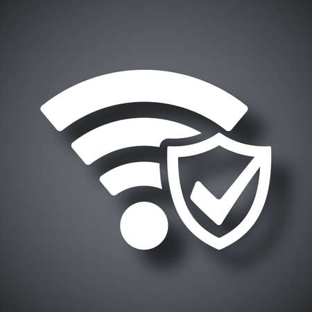 wifi: Vector Wi-Fi Security Icon Illustration