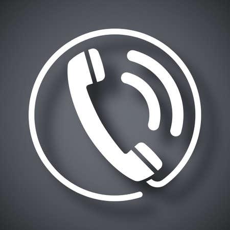 telephone receiver: Telephone receiver icon, stock vector Illustration