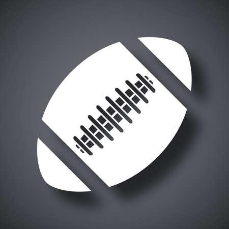 football ball: Vector american football ball icon