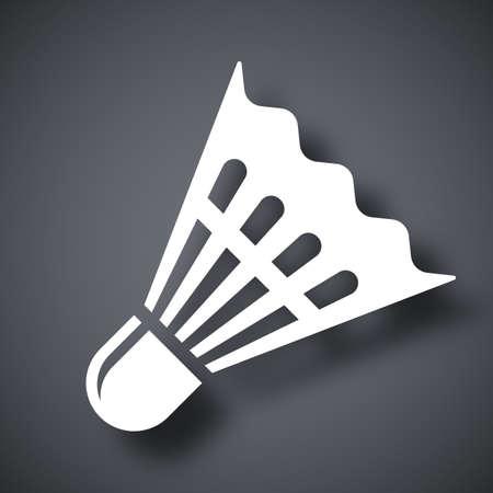shuttlecock: Vector badminton shuttlecock icon
