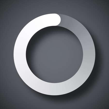 pre loader: Circular loading icon, vector