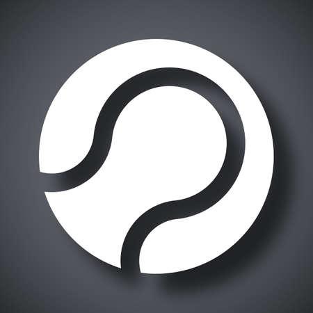 wimbledon: Tennis ball icon, vector Illustration