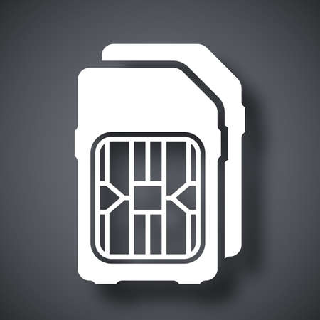 dual: Dual SIM cards icon, vector Illustration