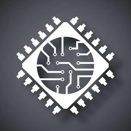 Microchip icône, vecteur