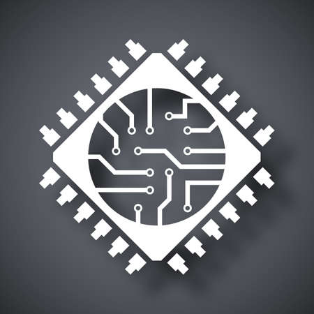 Microchip icon, vector Ilustrace