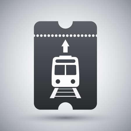 train ticket: Train ticket icon, vector