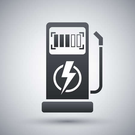 Vector charging station for electric car icon
