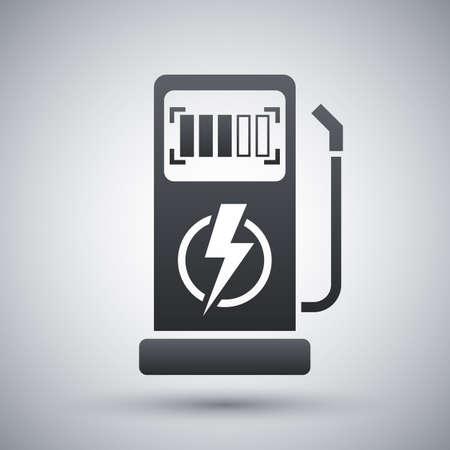Vector Ladestation für Elektrowagen-Ikone Vektorgrafik