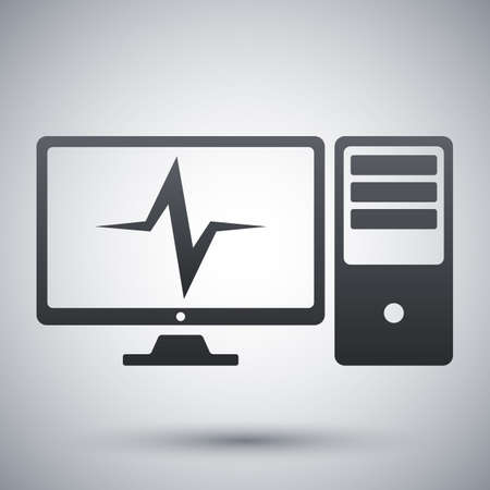 diagnostics: Vector computer diagnostics icon