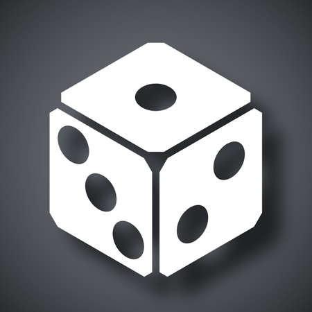 tossing: Dice icon, vector