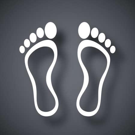 foots: Footprints icon, vector