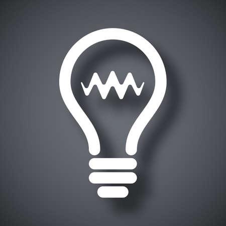light bulb icon: Vector light bulb icon